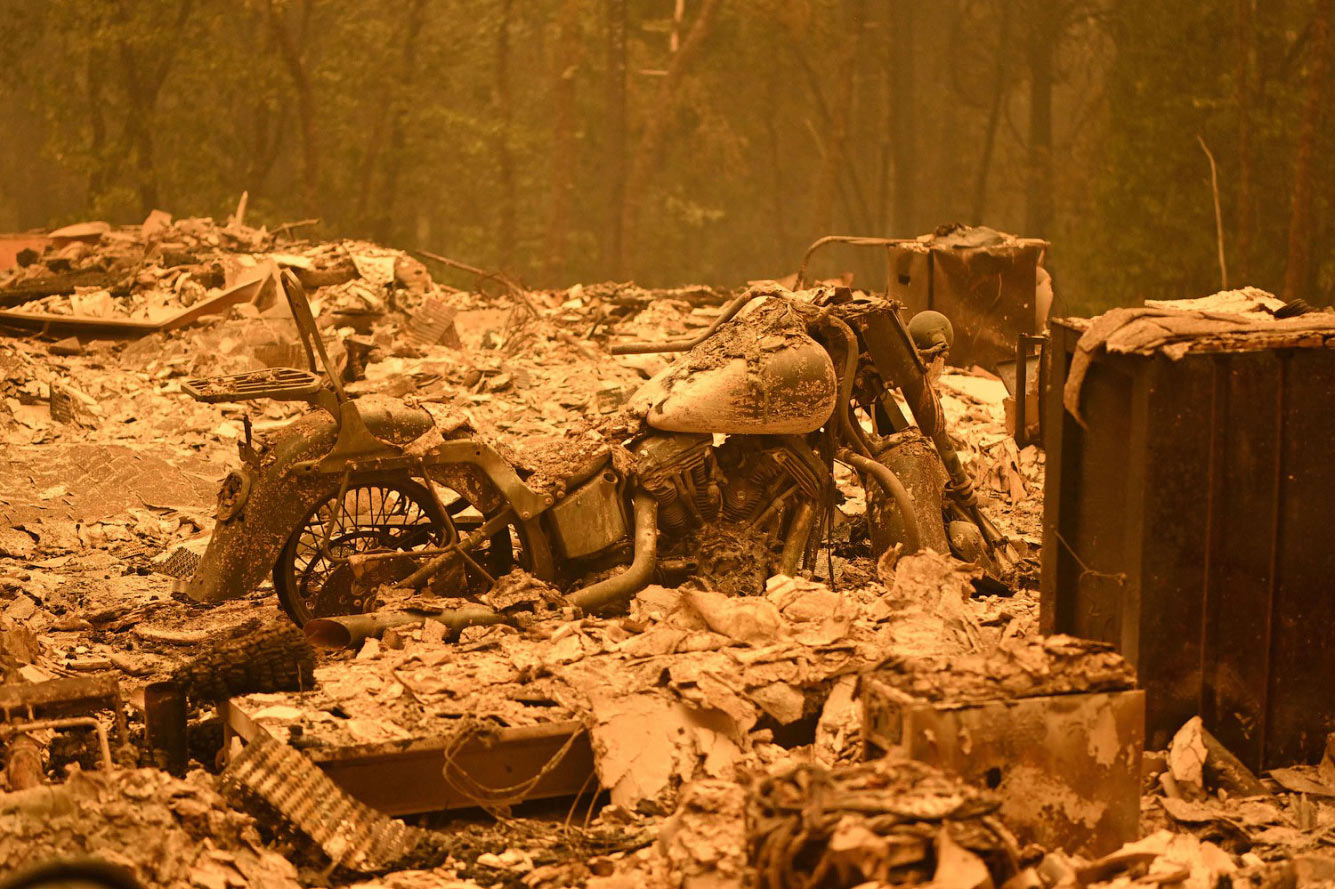 Сгоревший мотоцикл