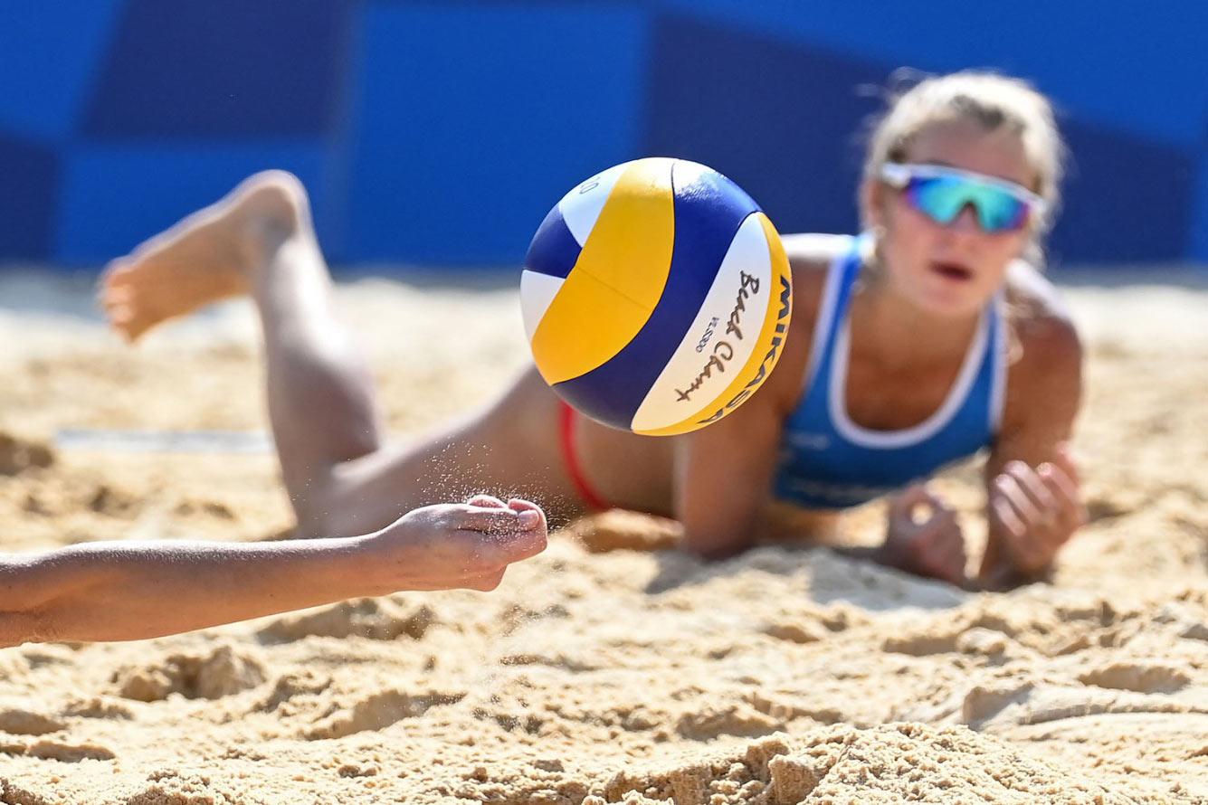 Пляжный волейбол среди женщин между сборными России и Италии