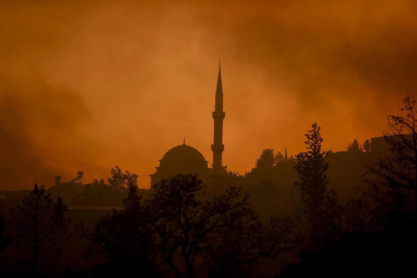 Мечеть в дыму