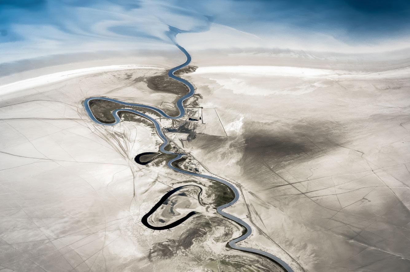 Река Зохре, впадающая в Персидский залив