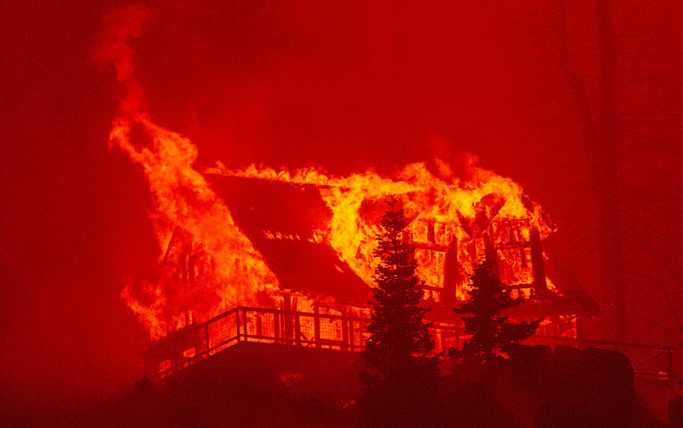 Пожар «Калдор» в Калифорнии
