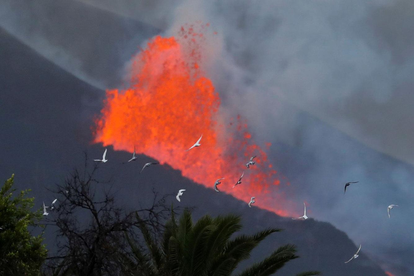 Извержение вулкана на острове Ла Пальма
