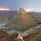 Каир и вершина пирамиды Хеопса