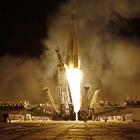 """Старт космического корабля """"Союз"""" к Международной космической станции"""