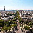 Виды Парижа c триумфальной арки