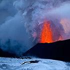 Извержение вулкана Плоский Толбачик. Виды с вертолета