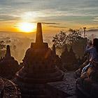 Храмовый комплекс Боробудур в Индонезии