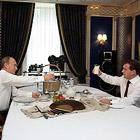 Путин и Медведев в резиденции Горки-9