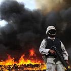 Костер из 134 тонн марихуаны в Мексике