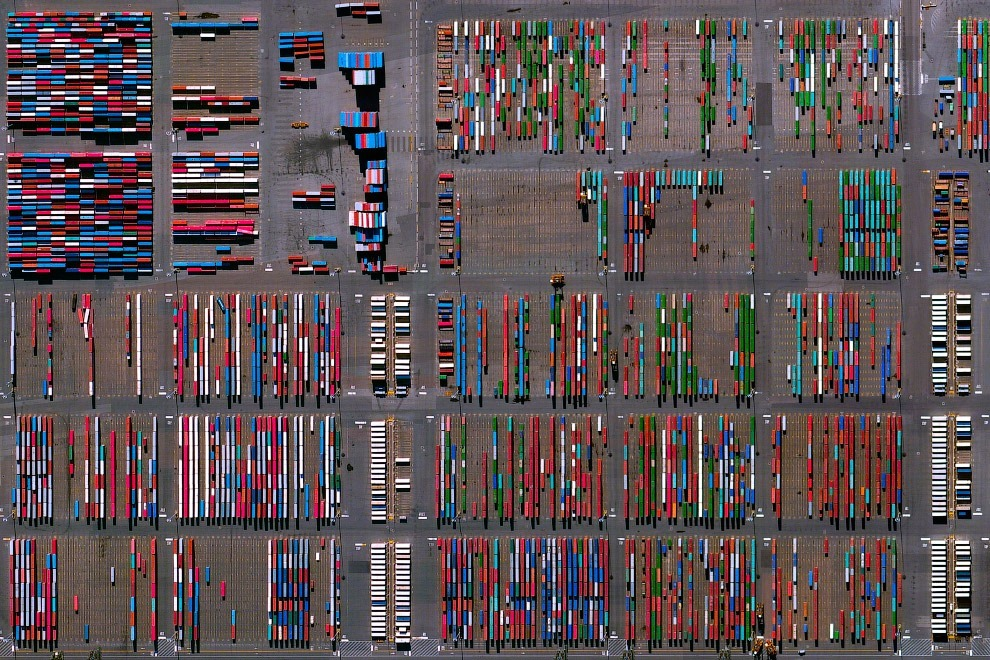 Контейнерный терминал в порту Нью-Джерси