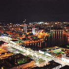 Ночной Екатеринбург с высоты птичьего полета