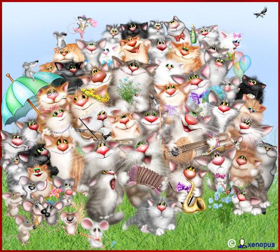Коты Xenopus