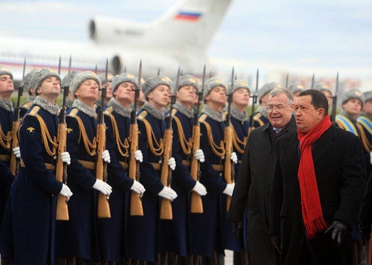 14 октября 2010 в Москву в девятый раз прибыл президент Венесуэлы Уго Чавес