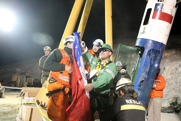 В Чили проходит операция по спасению 33 горняков