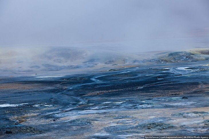Геотермальная долина Хвераронд в Исландии