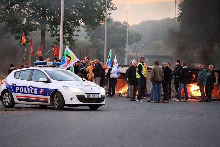 Забастовка во Франции