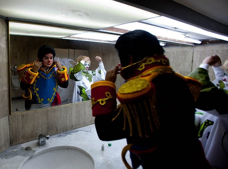 Всемирный съезд клоунов в Мексике