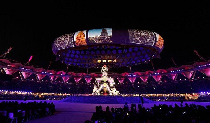 Церемония открытия Игр Содружества в Дели 3 октября 2010