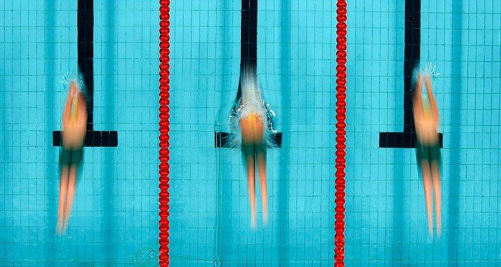 Женскый финал 100-метровки брасом 8 октября 2010