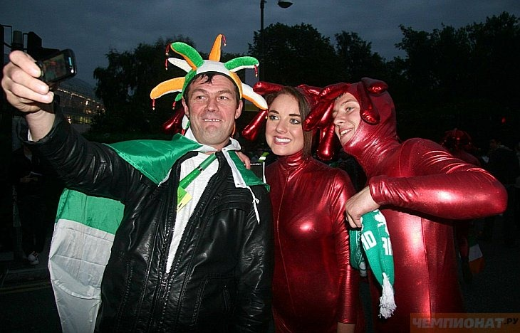 Болельщики сборной Ирландии