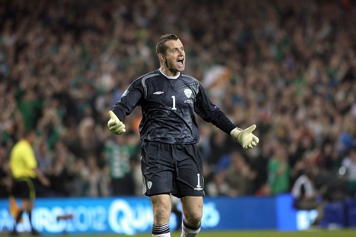 Вратарь сборной Ирландии Шей Гивен