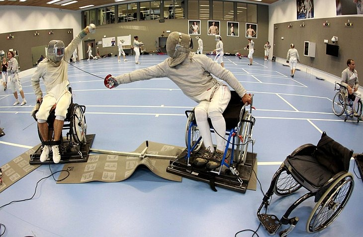 Французская команда на инвалидных креслах