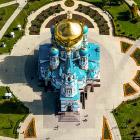 Омск с вертолёта