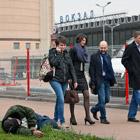 У Курского вокзала в Москве