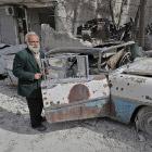 Винтажные автомобили под обломками Алеппо
