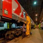 Как поезда проходят смену колеи в Бресте