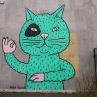 Граффити Минска: весенние коты