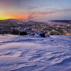 Зимний Мурманск в полярной ночи