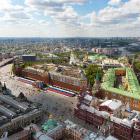 Полет над центром Москвы. Репетиция парада Победы