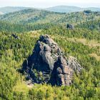 Красноярск и красноярские Столбы с высоты
